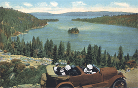vintage postcard Emerald Bay